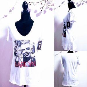 Marilyn Monroe ©1985 White Graphic T-shirt XL🦄💋